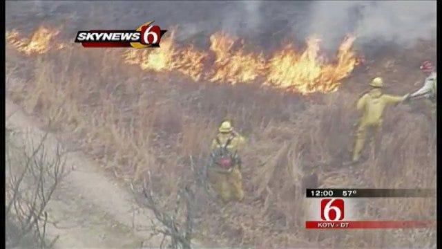 Brush Fire Near Pogue Airport