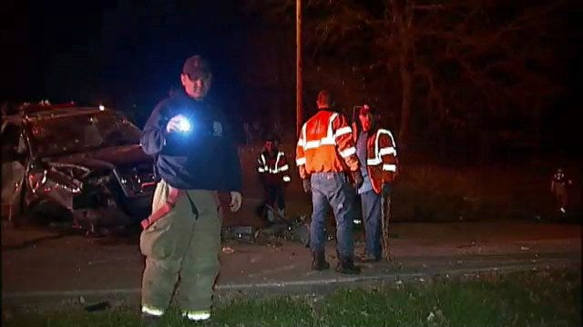 WEB EXTRA: Video From Scene Of Catoosa Pickup Truck Rollover Crash