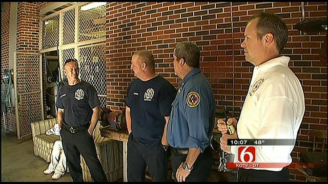 Tulsa Firefighter Injured In January House Fire Back On The Job