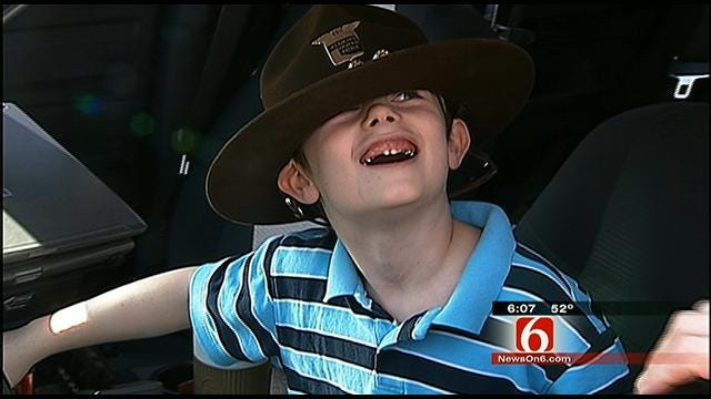 Oklahoma Highway Patrol Helps Family Get Back On Its Feet After Tragedy