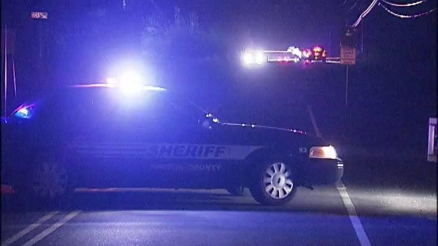 WEB EXTRA: Video From Rogers County Body Found Beside Roadway