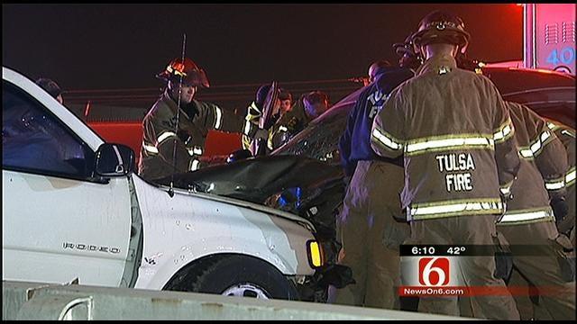 Wrong-Way Tulsa Driver Causes Injury Crash On I-244