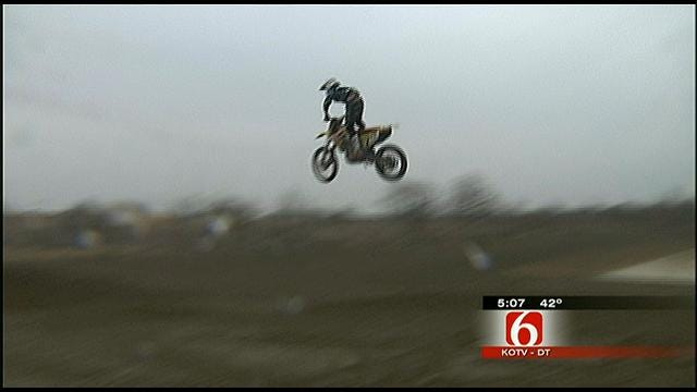 Motocross Riders Play At New Park Near Glenpool