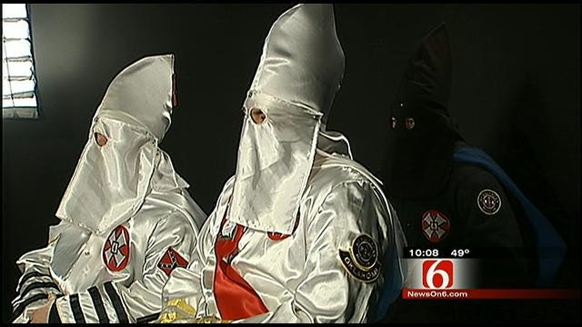 Oklahoma KKK Says They're Not Promoting Hate