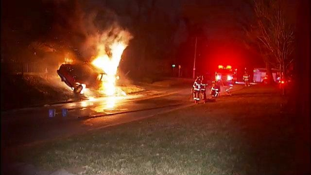 WEB EXTRA: Video Of Tulsa Pickup Truck Fire Early Monday