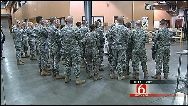 Soldiers Tour Community Food Bank Of Eastern Oklahoma