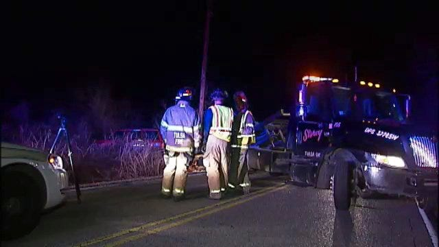 WEB EXTRA: Video From Scene Of East Tulsa Jeep Rollover Crash