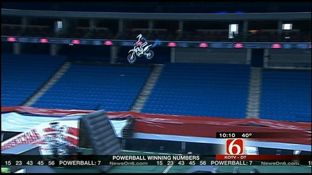 Tricks And Stunts Come To Tulsa With Motocross Riders