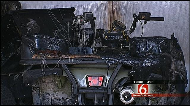 Tulsa Motorcycle Shop Cleans Up After Fire