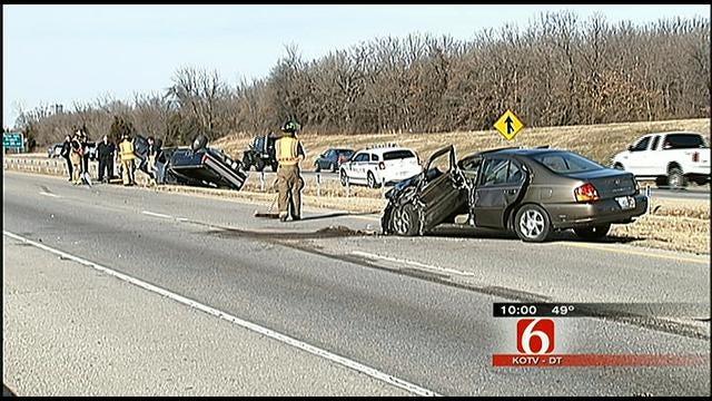 Four Injured In Tulsa Wrong Way Crash