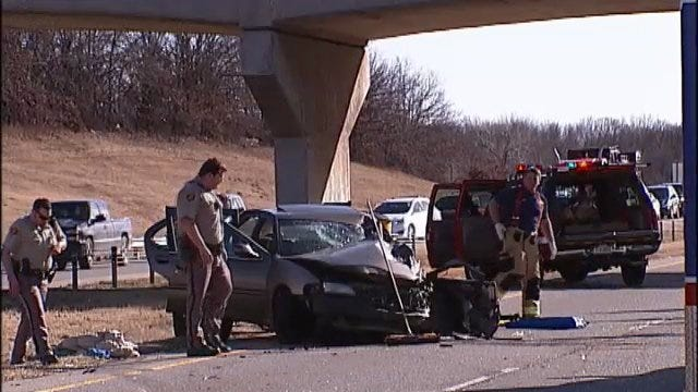 WEB EXTRA: Scenes From Wrong-Way Driver Wreck On Highway 75