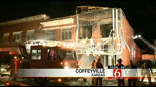 Coffeyville Firefighter, Downtown Buildings Saved