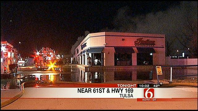 Tulsa Fire Department Extinguishes Motorcycle Shop Blaze