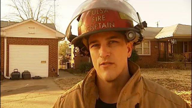 WEB EXTRA: Tulsa Fire Captain On Injury Kitchen Fire