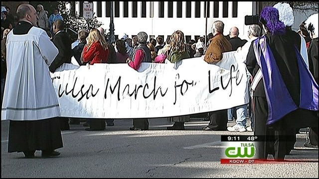 Tulsa Abortion Opponents 'March For Life'