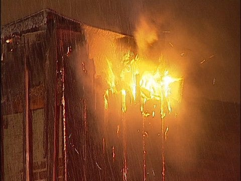 WEB EXTRA: Video From Scene Of Downtown Tulsa Vacant Building Fire