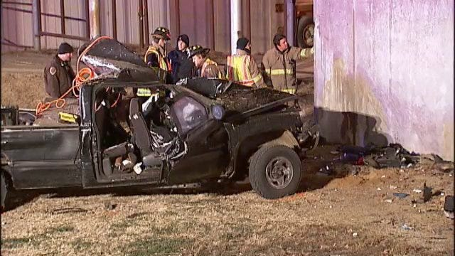 WEB EXTRA: Video From Scene Of Creek County Fatal Crash