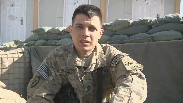 WEB EXTRA: Oklahoma Soldier Gives A Shout Out From Afghanistan