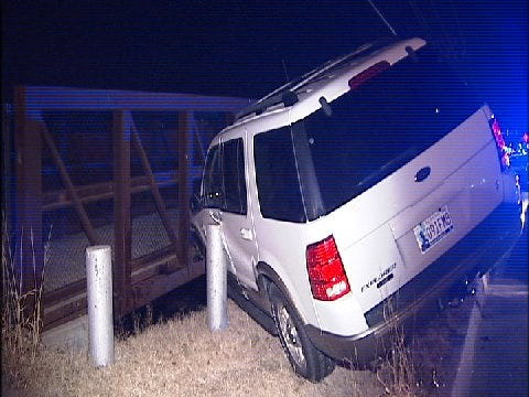 WEB EXTRA: Man Almost Drives Off Tulsa Bridge