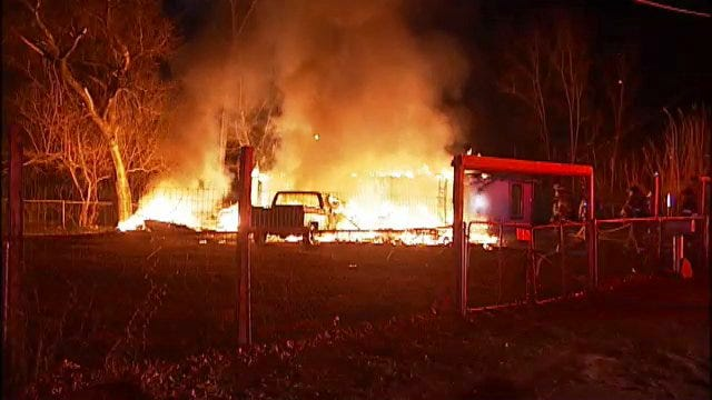 WEB EXTRA: Scenes From West Tulsa House Fire