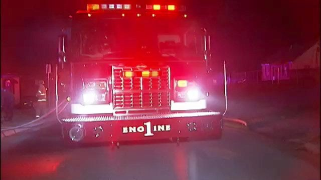 WEB EXTRA: Video From Scene Of Sand Springs House Fire