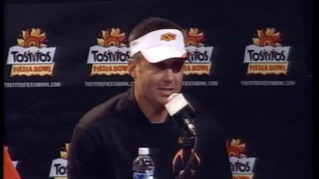 Fiesta Bowl Postgame: Mike Gundy