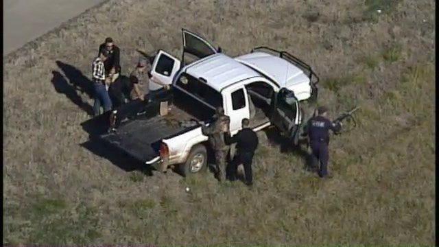 SkyNews6 Follows Pickup Truck Until Rogers County Sheriff's Deputies Stop It