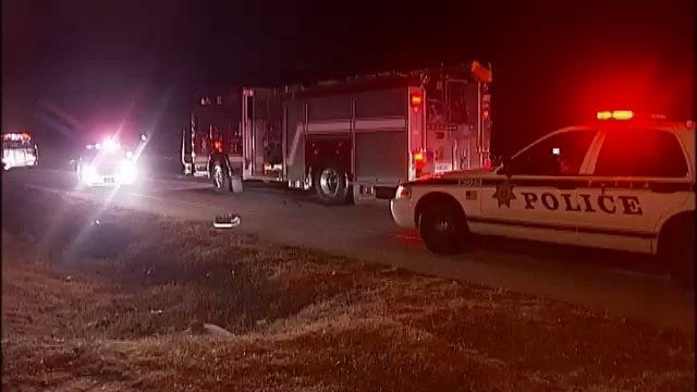 WEB EXTRA: Video From Scene Of North Tulsa Crash