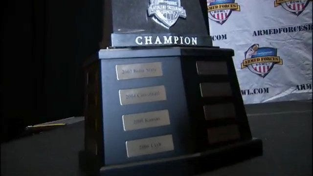 A Look At The Unique Armed Forces Bowl Trophy