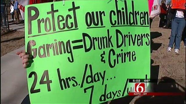 Broken Arrow Residents Protest City's First Casino