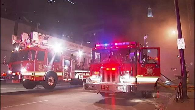 WEB EXTRA: Video From Scene Of Downtown Tulsa Building Fire