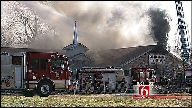 Christmas Eve Fire Guts North Tulsa Church