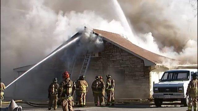 WEB EXTRA: Scenes From North Tulsa Church Fire