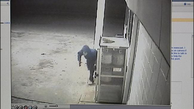 WEB EXTRA: Surveillance Video Of Robbers Entering, Leaving Store