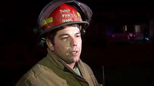 WEB EXTRA: Tulsa Fire Captain Matt Sherer Talks About Vacant House Fire