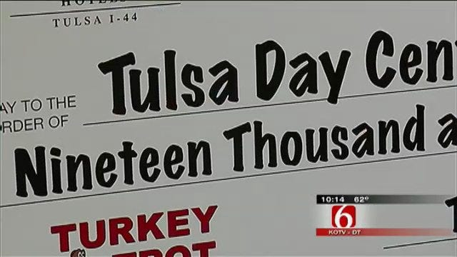 Tulsa's Day Center For The Homeless Gets Big Check