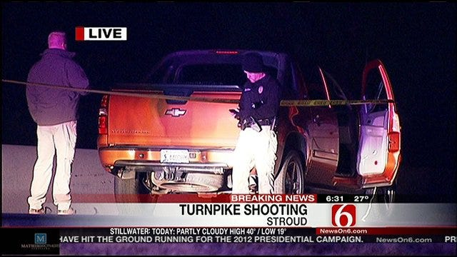 Two People Shot While Driving Down Turner Turnpike Near Stroud