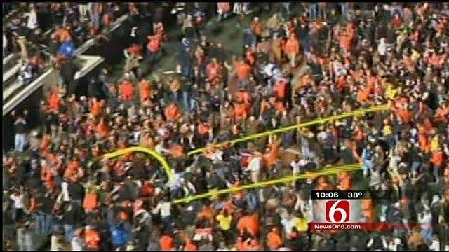 Oklahoma State Fans Injured Celebrating Bedlam Win