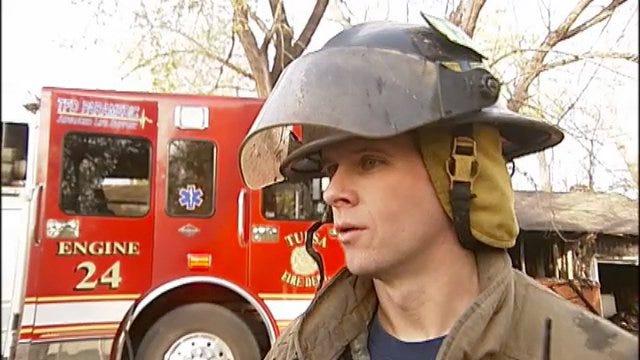 WEB EXTRA: Tulsa Fire Acting Captain Derek Dixon Talks About House Fire