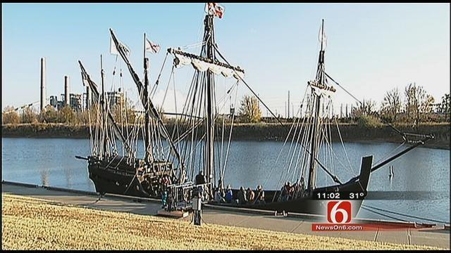 Replicas Of Historical 'Nina' And 'Pinta' Sail Into Muskogee
