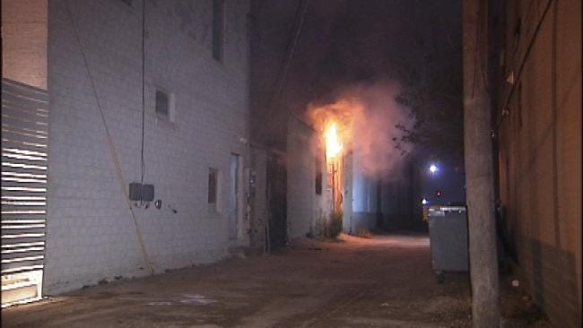 WEB EXTRA: Fire At Downtown Tulsa Commercial Building