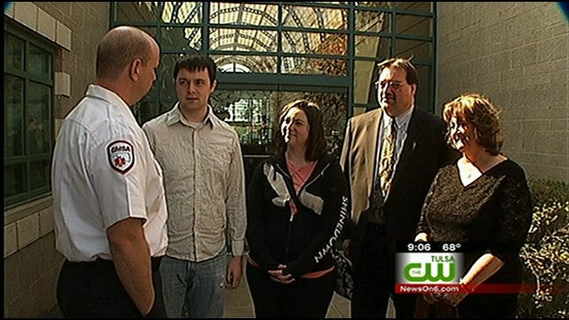 Binge Drinking Student Meets Paramedics who Saved Him
