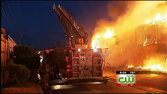 16 Units At South Tulsa Apartment Complex Go Up In Flames