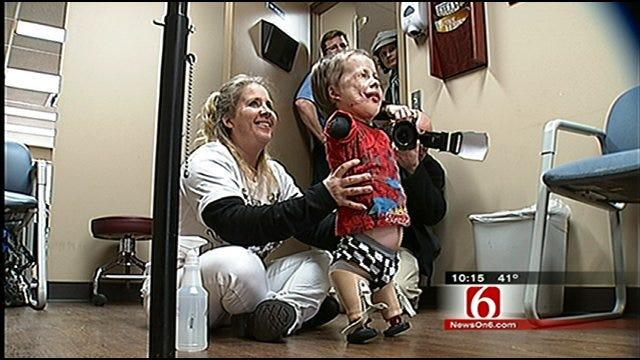 Meningitis Victim Jeremiah Mitchell Learns To Walk Again