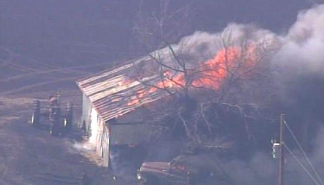 WEB EXTRA: SkyNews6 Flies Over Creek County Wildfire