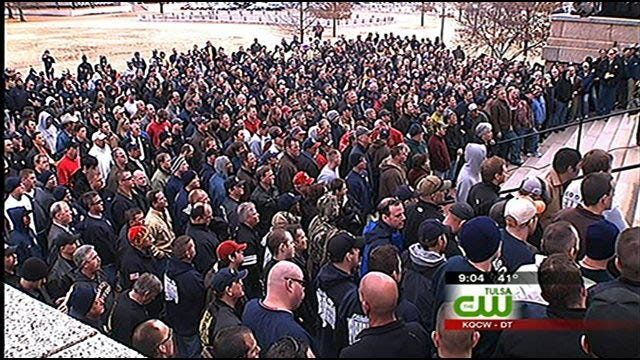 Tulsa-Area Firefighters Rally To Protest Pension Changes