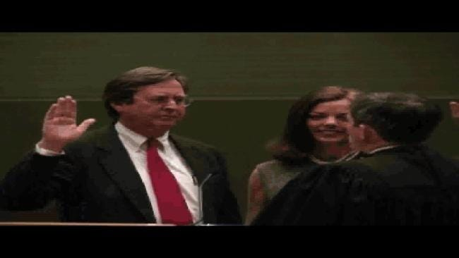 WEB EXTRA: Bartlett Takes Oath Of Office