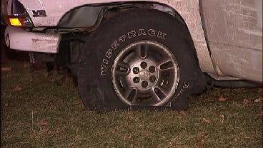 WEB EXTRA: Video From Scene Of Dodge Durango Crash In Tulsa