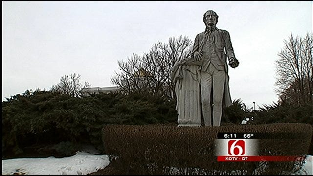 Presidents Statues Stand Tall At Rogers State University In Claremore