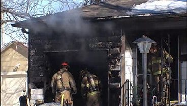 WEB EXTRA: Firefighters On The Scene Of Tulsa House Fire